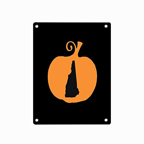 Halloween New Hampshire Metal Sign Retro Decor for Wall Bar Home Pub Tin Sign Posters 12 x 8 Inch -