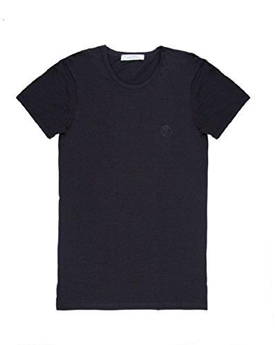 Versace Collection Mens Black Cotton Crew Neck Medusa Undershirt T-shirt Viogco1 - Versace Medusa And