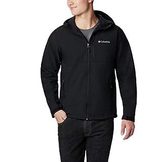 Columbia Men's Ascender Hooded Softshell Jacket, Black, Large