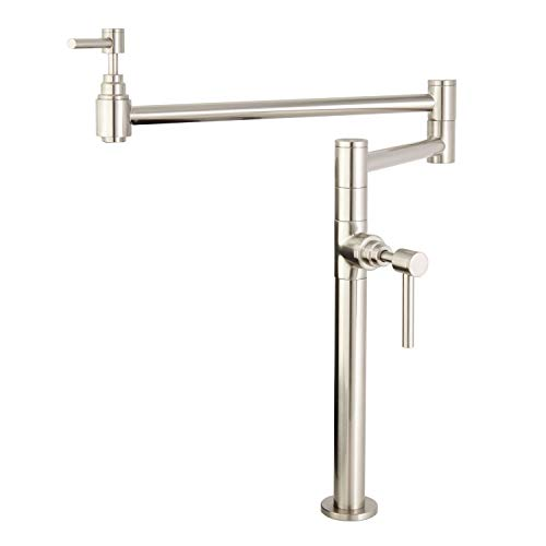 Naiture Parker Deck-Mount Retractable Pot Filler in Brushed Nickel Finish -  Naiture Home Store, FT929400BN