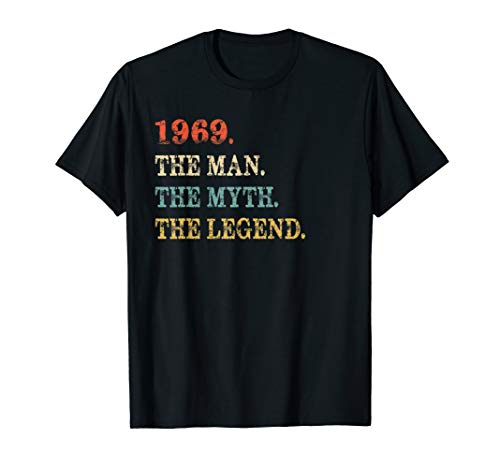 Retro The Myth The Legend 1969 50th Birthday Gift 50 yrs old