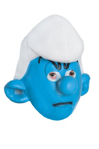 [The Smurfs Grouchy Mask] (Smurf Costume 2 Year Old)