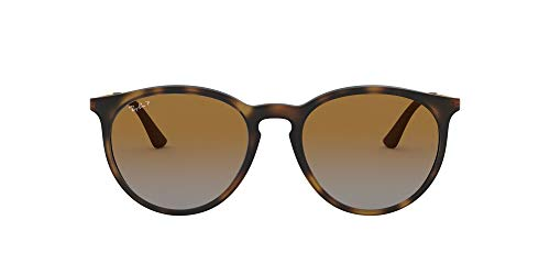 Ray-Ban RB4274 Round Sunglasses, Rubber Havana/Polarized Brown Gradient, 53 mm