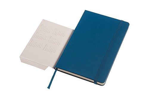Moleskine 2016-2017 Weekly Notebook, 18M, Large, Steel Blue, Hard Cover (5 x 8.25)