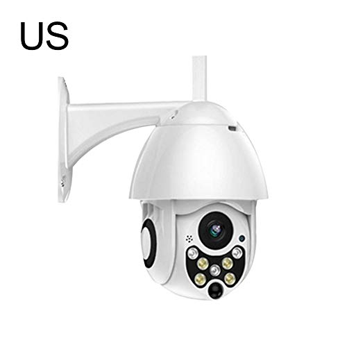 (Security Camera HD 1080P 7LED PTZ Control IP Camera Mini WiFi Outdoor Dome Home Security IP Camera Wireless CCTV Waterproof Night Vision Full Color Motion Detection Hotspots Cam Monitor )