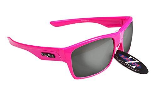 RayZor Professional Lunettes de soleil protection UV400Rose de Sport, ultra léger avec un fumé Effet miroir anti-reflet Objectif