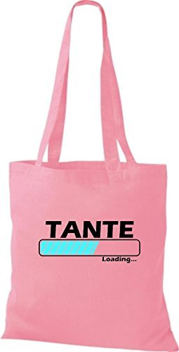 Jute Stoffbeutel Tante Loading viele Farben rosa
