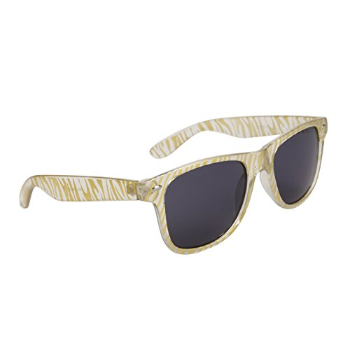 Cheetah Rainbow Sunglasses (Rainbow & Metallic Colored Zebra & Cheetah Print Wayfarer Style Sunglasses (Gold/Clear Zebra))