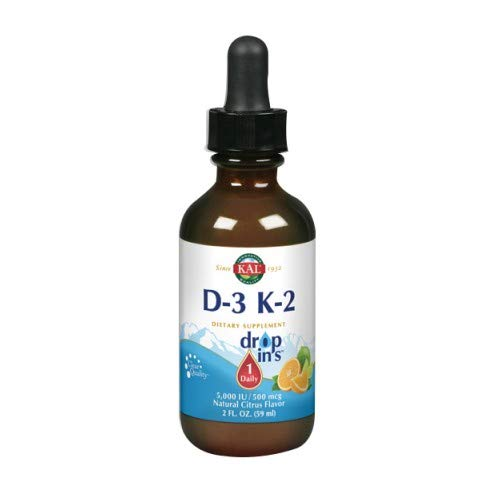 Kal 5000 Iu D-3 K2 Citrus Dropins, 2 Fluid Ounce