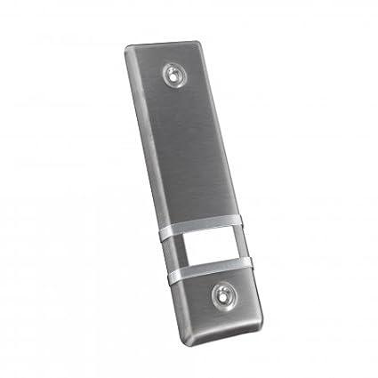 JAROLIFT Placa cubierta de enrollador para persianas / aluminio / 185 mm / diseño color acero
