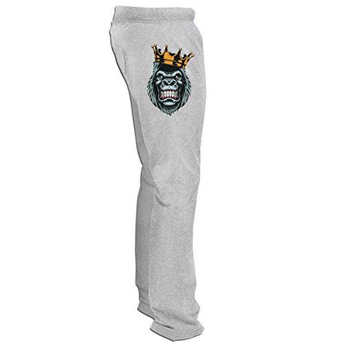 BAIXRU Ferocious Gorilla Head On Fitness Adult Yoga Pants Gray 3XL