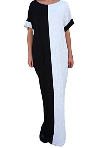 long black and white maxi dress - 8