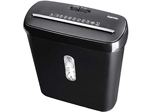 schwarz Kreditkarten CD Hama Basic S7A elektrischer Aktenvernichter Streifenschnitt 8 Liter