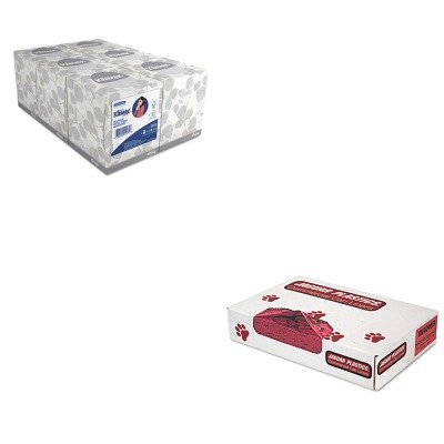 (KITJAGIW4046RKIM21271 - Value Kit - Jaguar Plastics IW4046R Red Healthcare, Infectious Waste and Infectious Can Liners, 40-45 Gallons (JAGIW4046R) and KIMBERLY CLARK KLEENEX White Facial Tissue)