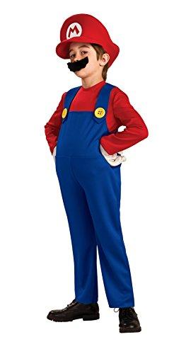 Cheap Super Mario Costumes (UHC Boy's Super Mario Deluxe Kids Child Fancy Dress Party Halloween Costume, L (12-14))