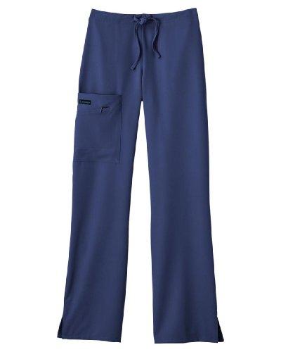 Classic Fit Collection by Jockey Women's Tri Blend Zipper Scrub Pants Medium Tall New Navy