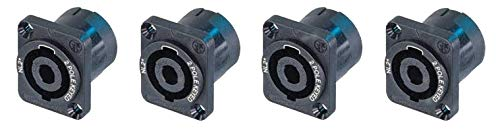 - (4) Genuine Neutrik NL2MP 2 Pole Chassis Mount Locking SpeakOn Speaker Connector