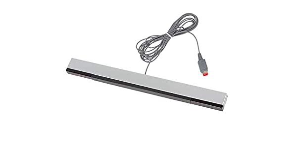 Barra de repuesto de sensor Wii, barra de sensor de movimiento de rayos infrarrojos para consola Nintendo Wii/Wii U, color negro y plateado: Amazon.es: Videojuegos