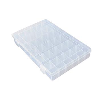 eDealMax viajes anillos de la joyería DE 36 ranuras Ajustable Caja de almacenamiento caja de plástico