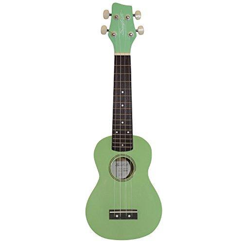 sawtooth st uke bsgr basswood soprano ukulele surf green pick