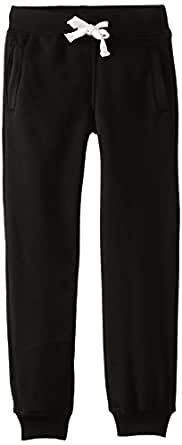 SOUTHPOLE Boy's Active Basic Jogger Fleece Pants, Black, Small