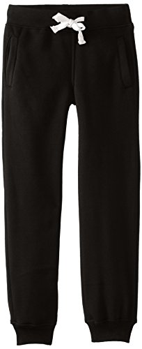 Southpole Boys' Big Active Basic Jogger Fleece Pants, Black,