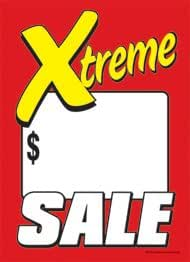 100 Pack Business Store Signs Price Cards Extreme 5 x 7 T50XTM Xtreme Sale - Slotted Sale Tags
