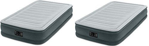Intex Comfort Plush Mid Rise Dura-Beam Airbed with Built-in Electric Pump EsvpRE, 2Pack (Twin) by Intex