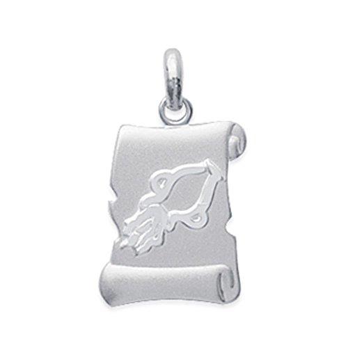 ISADY - Kela Verseau - Pendentif - Argent 925 - Zodiaque - Horoscope - Gravure Offerte - Chaîne incluse - Longueur 45 cm