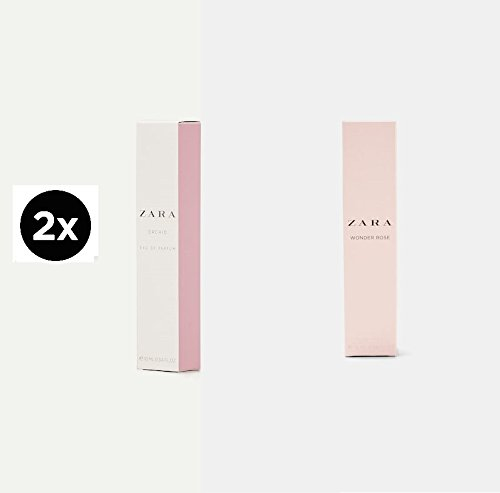 New Two bottles ZARA WONDER ROSE 10ML + ORCHID 10ML EAU DE TOILETTE WOMAN  Parfum