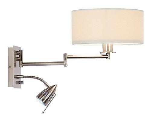 Possini Euro Tesoro LED Reading Swing Arm Wall Lamp (Backplate Swing Arm Wall Lamp)