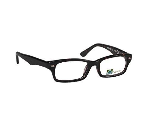 ES80 (Tortoise, 45) - Semi Tortoise Eyeglasses Shell Rimless