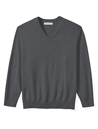 And Tall V-neck Sweater Big - Amazon Essentials Men's Big & Tall V-Neck Sweater fit by DXL, Charcoal Heather, 3X