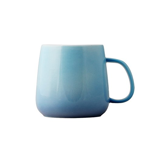 UPSTYLE Gradient Color Coffee Mug Bone China Light Color Children Ceramic Cup Sports Travel Coffee Mug for Hot Chocolate,Tea,Water, Milk and Coffee,Perfect for Kids&Adult (Large China Coffee Mug)