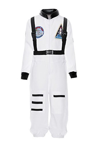 ReliBeauty Boys Kids Children Astronaut Role Play Costume, White, 8