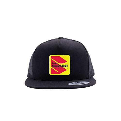 Factory Effex Suzuki Vintage Trucker Hat (Black/Grey)