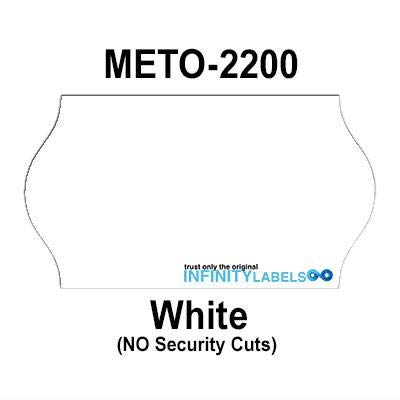 252,000 Meto 2200 Compatible White General Purpose Labels for Meto 6.22, Meto 8.22 Price Guns. Full Case + 12 Ink Rollers. NO Security - Price Tamper General Purpose