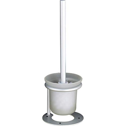 YXN Toilet Brush Holder Floor Moving Toilet Brush Holder Space Aluminum Bathroom Toilet Brush Holder Cleaning Silver H37.5 cm by YXN