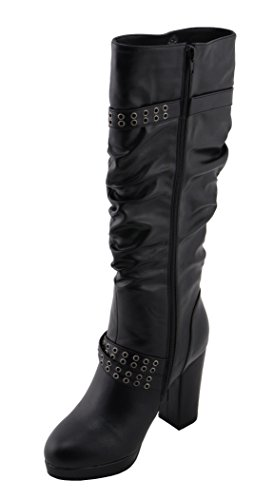 Black with PerformanceWomen's Slouch Platform Milwaukee Shaft Boot Size 9 zYHAqwx