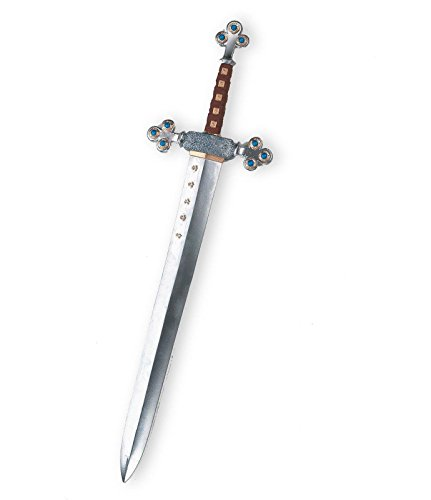 Disguise Men's Lion's Sword Costume Accessory, Silver, (Plastic Armor Costume)