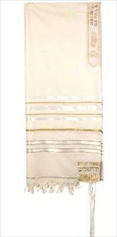 Holyland Gifts Tallit 12 Tribes Prayer Shawl Acrylic Whit...