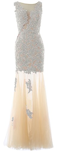 Gown Evening Prom Macloth Wedding Formal Long Lace Mermaid Ivory Women Party Dress XYHxwY0