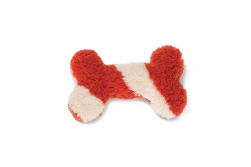 West Paw Design Mini Bone Squeak Toy for Dogs, Rust Chevron