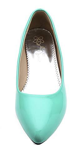 D'orteil Chaussures Couleur Unie Verni L Fermeture Femme Agoolar qcwYXPFHx