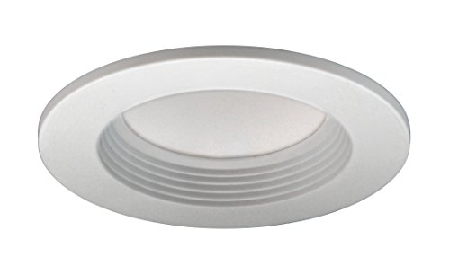 Universal Remodel Housing Recessed Lighting - NICOR Lighting Sunset Dimming LED Recessed Downlight Retrofit Kit for 4-Inch Housings, White Baffle Trim (DLR4-SD-1005-WH-BF)