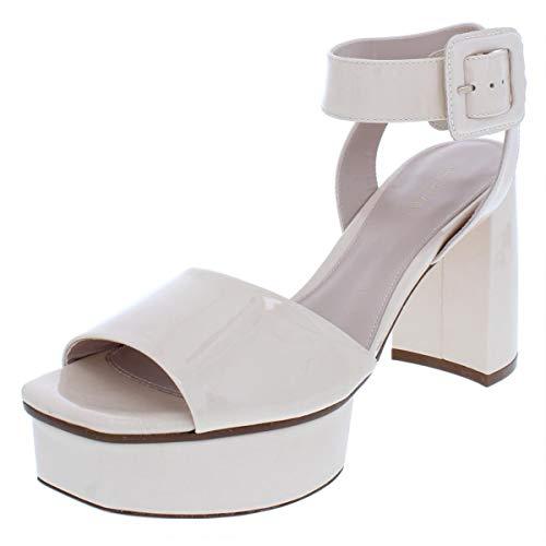 Stuart Weitzman Womens Newdeal Block Heel Platform Sandals Beige 10 Medium (B,M)