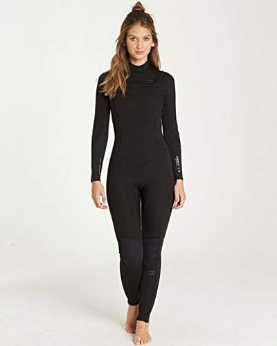 Wetsuit 3/2 Fullsuit - Billabong Women's 3/2 Furnace Synergy Chest Zip Fullsuit Black 6
