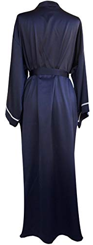 JANA JIRA Women s Long Ankle Length Robe for Women Plus Size Nightgowns  Navy Blue 419f525ce