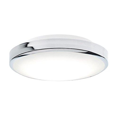 Glow 28 N LED Deckenleuchte, chrom weiß matt H 9,5cm Ø 28cm Phasenabschnittdimmer 3000K 2500lm CRI 80