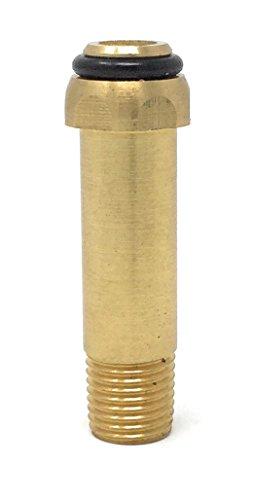 Brass Pig Tail Connector POL Soft Nose x 1/4 NPT Male - Conector PUNTA POL de latón (Npt Male Union Connector)